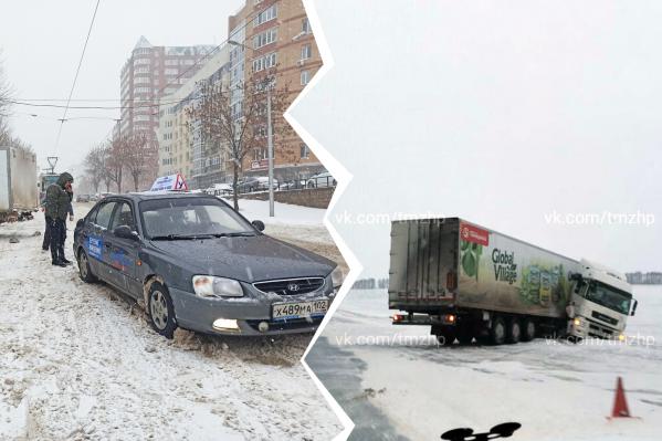 Движение затруднено на многих участках дорог из-за аварий
