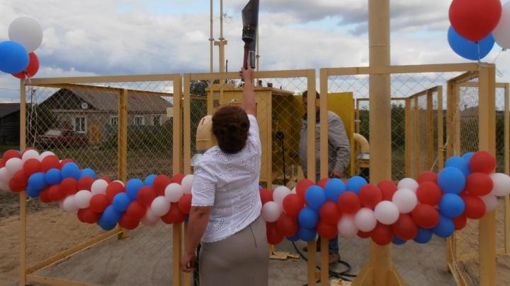Открывайте, газ пришёл: в селе Пески Далматовского района появилось голубое топливо