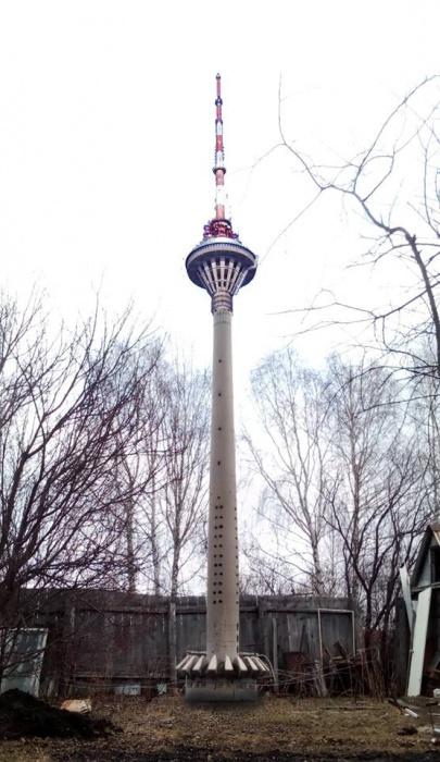 Достроенная башня на Широкой Речке (эскиз)