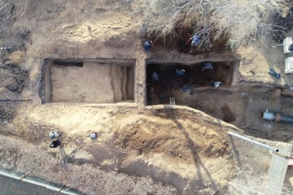 Общая площадь раскопок — около 400 квадратных метров