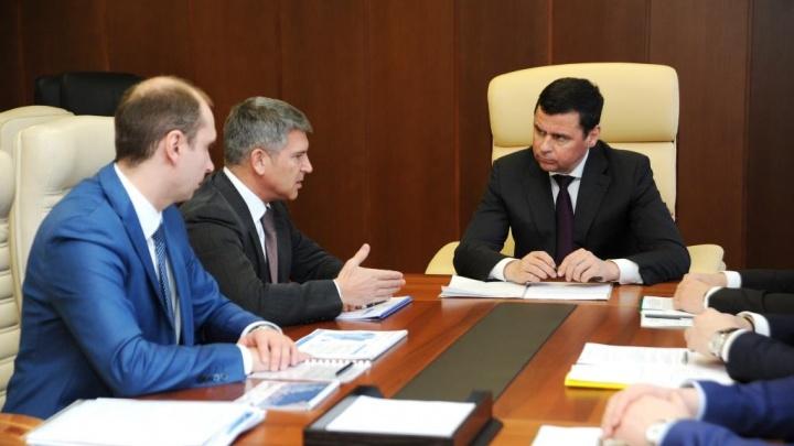 Дмитрий Миронов обсудил с гендиректором МРСК Центра Игорем Маковским развитие электросетей региона
