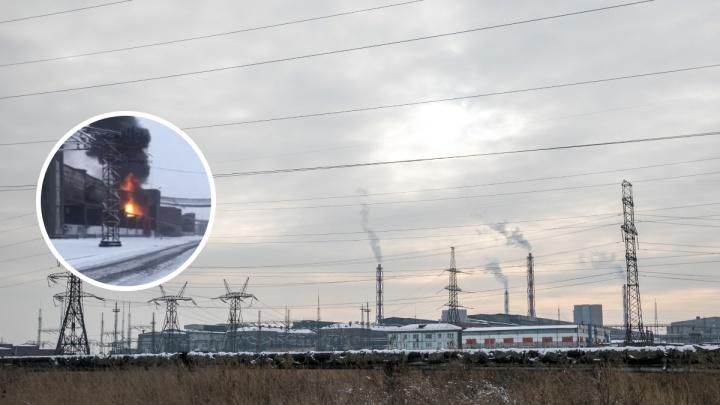 Утром на КрАЗе вспыхнул трансформатор