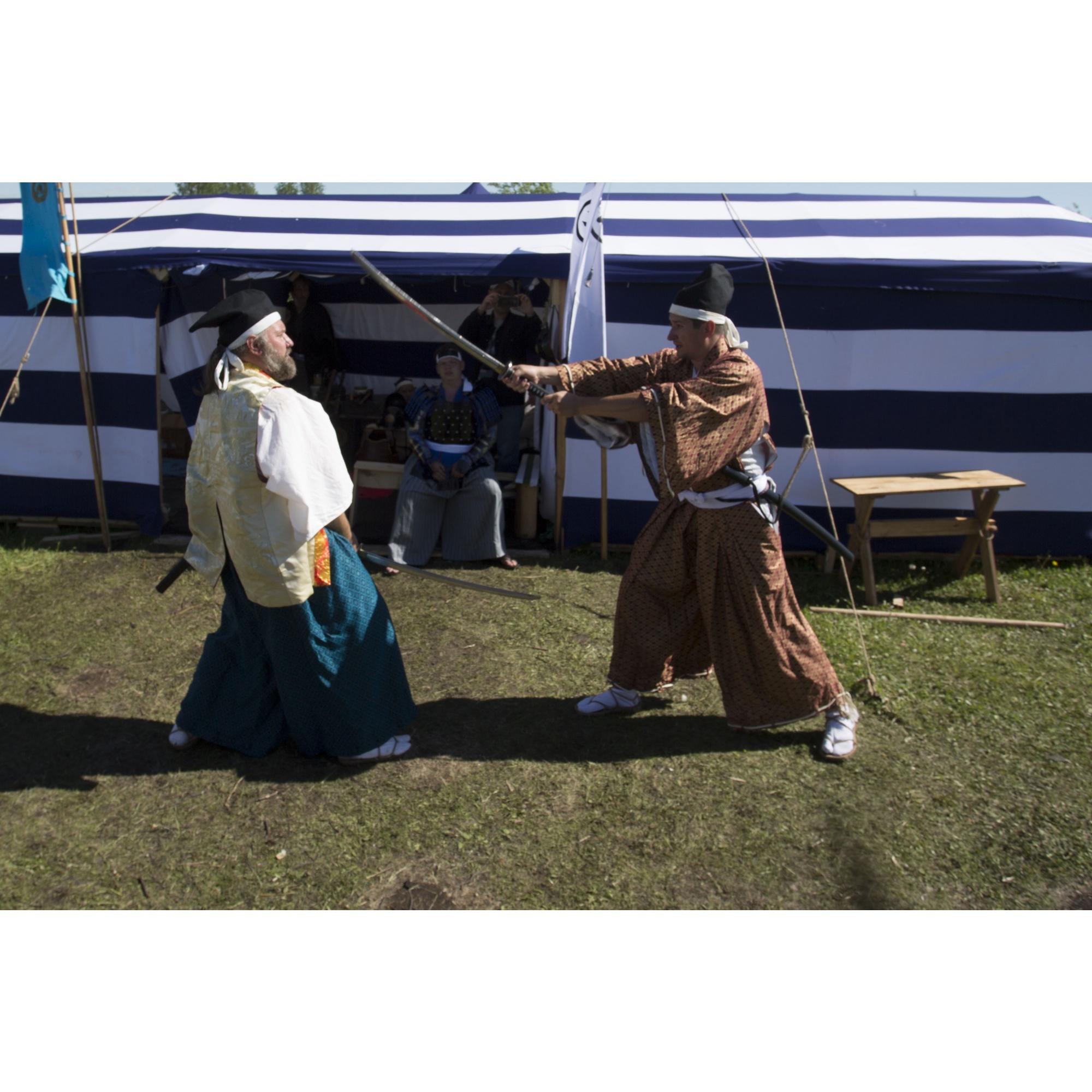 Европейские воины здесь встретились с самураями