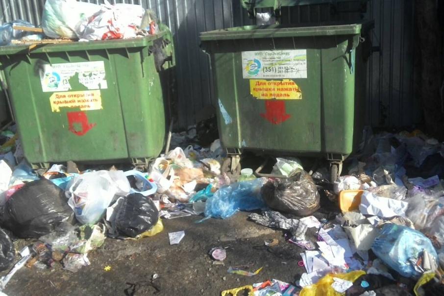 Около дома по улице Ворошилова, 33б за неделю скопились горы мусора