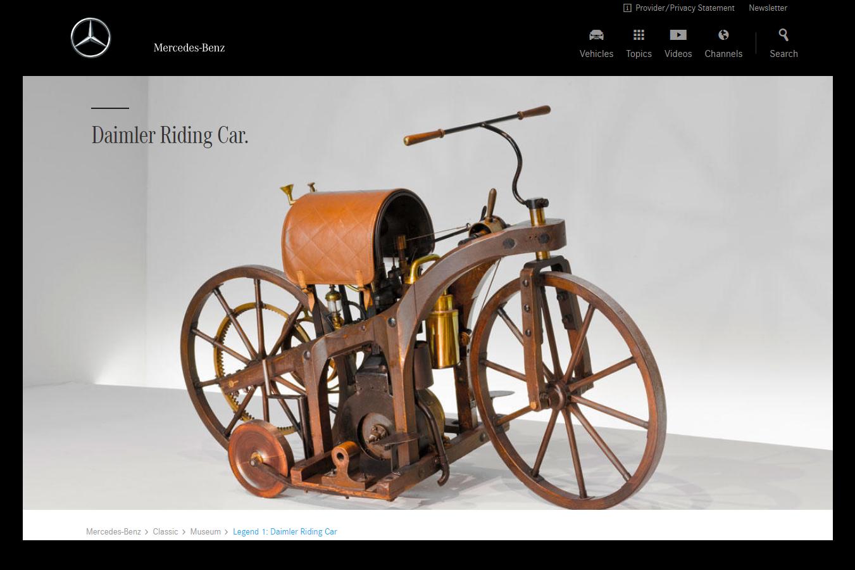 Вот так выглядел первый мотоцикл — Daimler Reitwagen