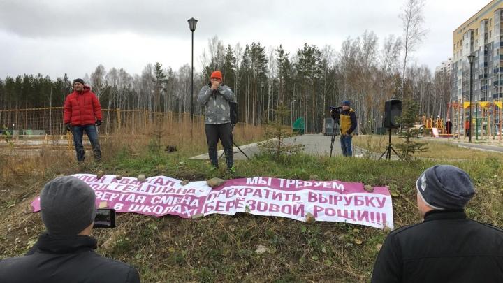 «Это полнейший беспредел»: жители Академического снова вышли на митинг против вырубки березовой рощи