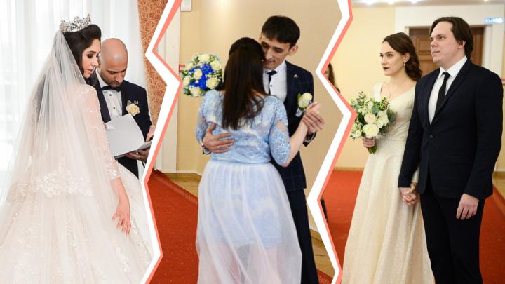 Лебединое число. Показываем, кто в Екатеринбурге решил пожениться в самую красивую дату года