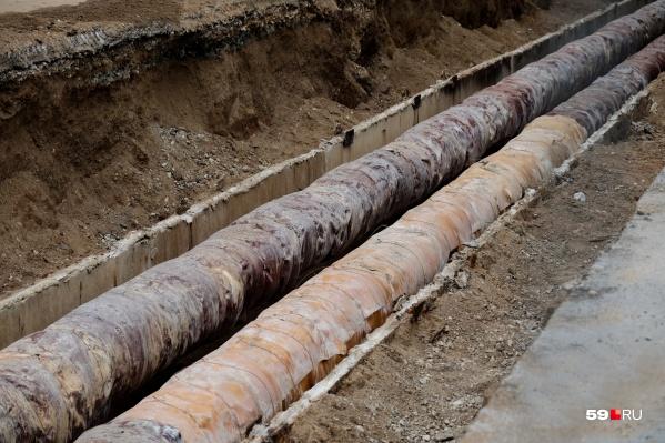 Всего в крае более трех тысяч километров труб отопления