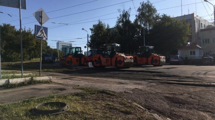 В Уфе перекрыли часть улицы Зорге