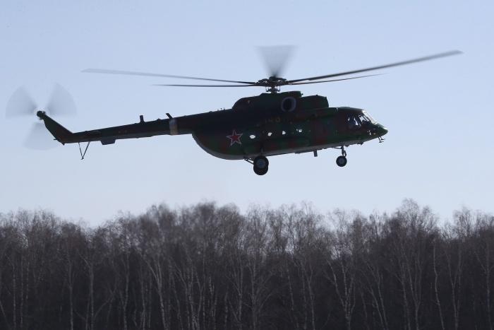 Вертолёт Ми-8 потерпел крушение