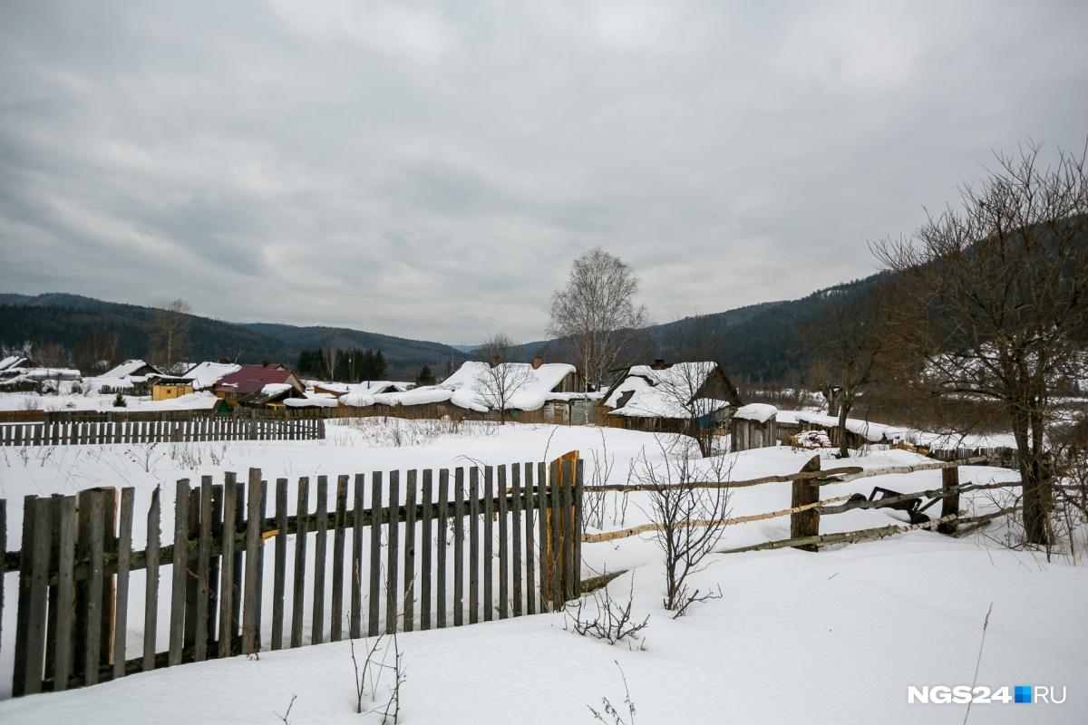 Вид на посёлок недалеко от дома Любови Николаевны