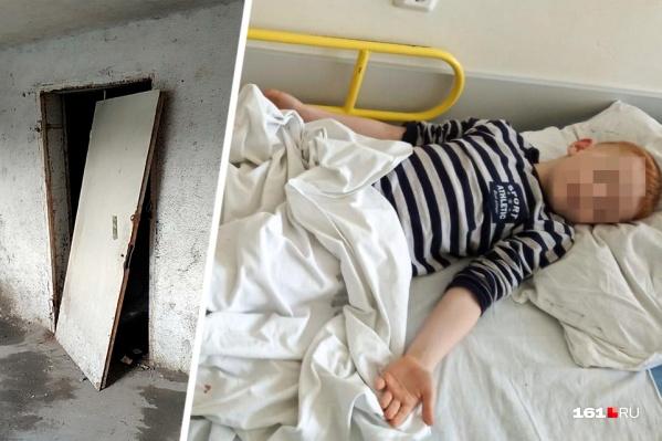 Железная конструкция упала на ребенка