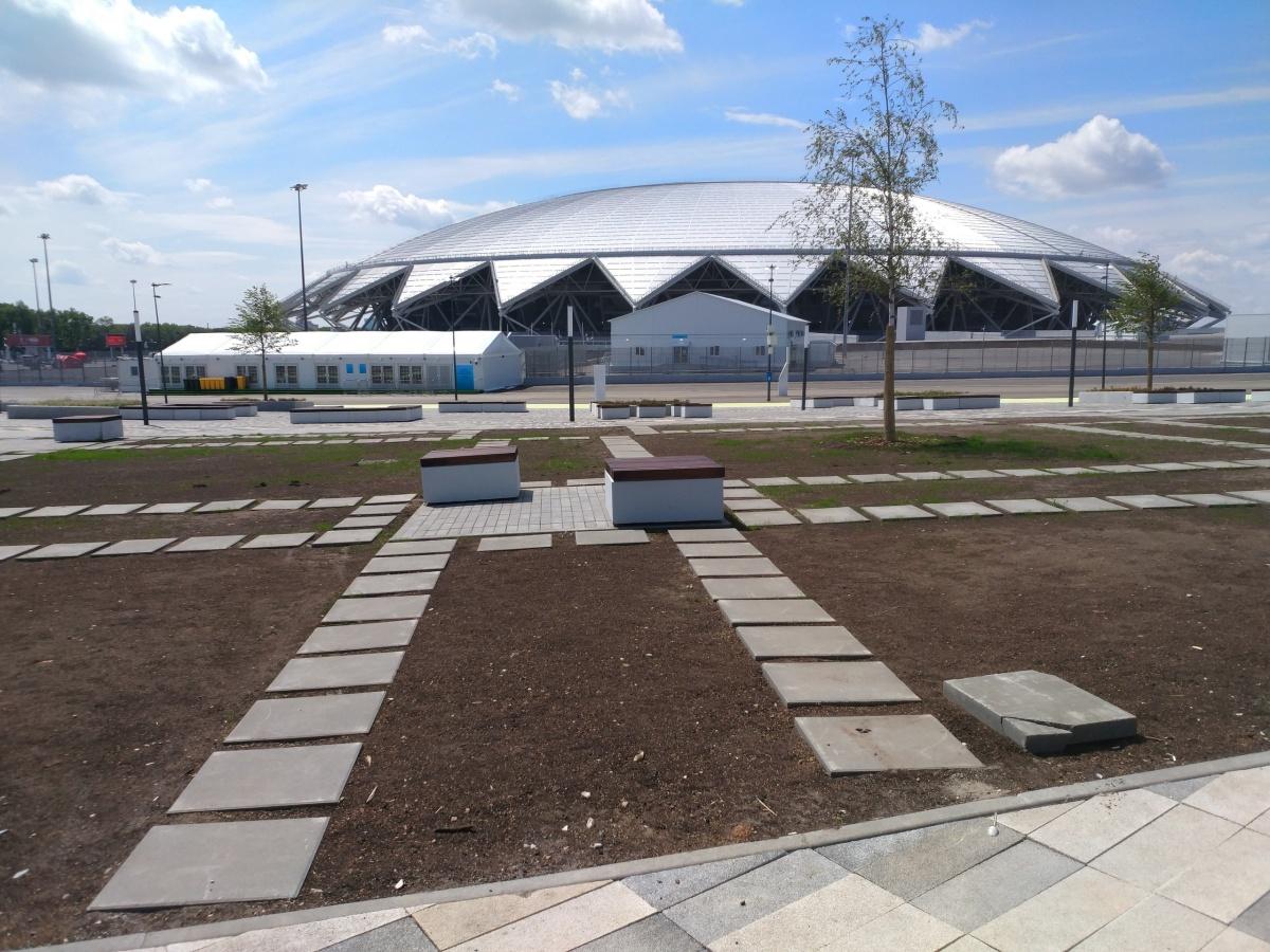 Прилегающую к стадиону территорию дополнят новыми спортобъектами