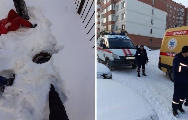 Глубина — 3 метра: папа школьницы, провалившейся в люк на Кропоткина, рассказал, как искал ребенка
