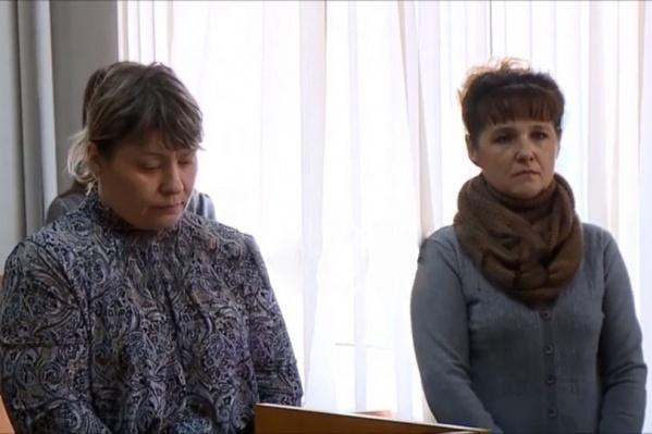 Женщин взяли под стражу прямо в зале суда