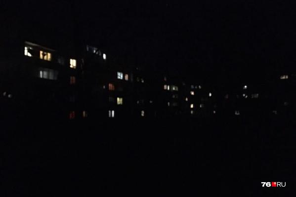 Фонари на нескольких брагинских улицах потухли в один момент