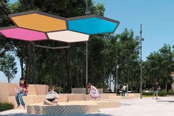 Таким нарисовали проект благоустройства для Юбилейного парка