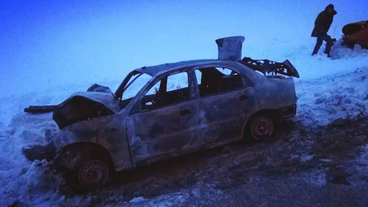 На трассе в Башкирии 11-летняя девочка скончалась после столкновения «Лады» иChevrolet