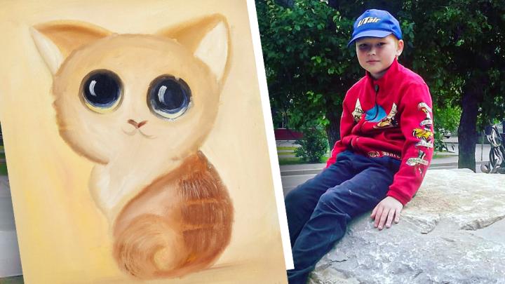 Мальчик из Тюмени продает свои рисунки, чтобы помочь маме закрыть долг за квартиру в 3 миллиона