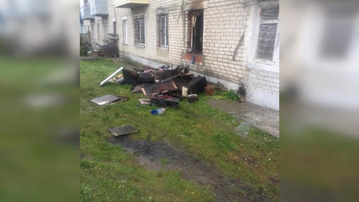 Мама с маленькими детьми пострадали в пожаре в Ялуторовске