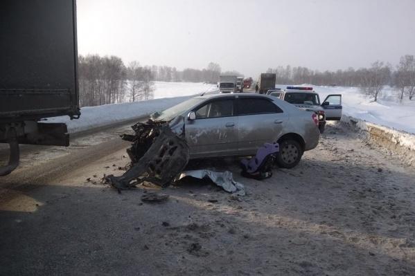 Авария произошла недалеко от села Егоровка