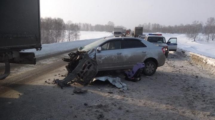 «Шевроле» устроил ДТП с тремя грузовиками на трассе: в больнице оказалась 30-летняя сибирячка