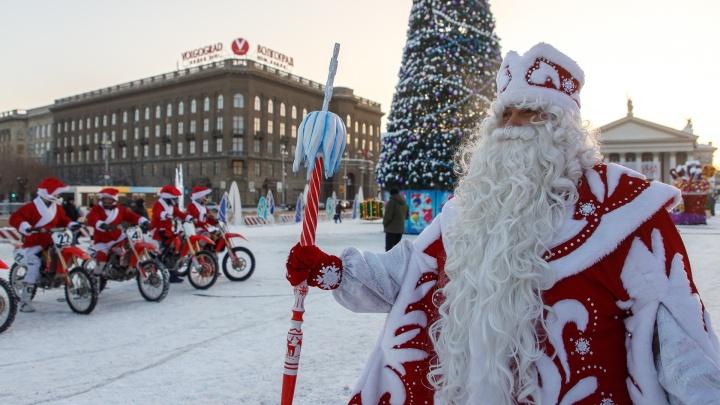 Мотохоровод и волшебная горка: в центре Волгограда официально открылась главная городская ёлка