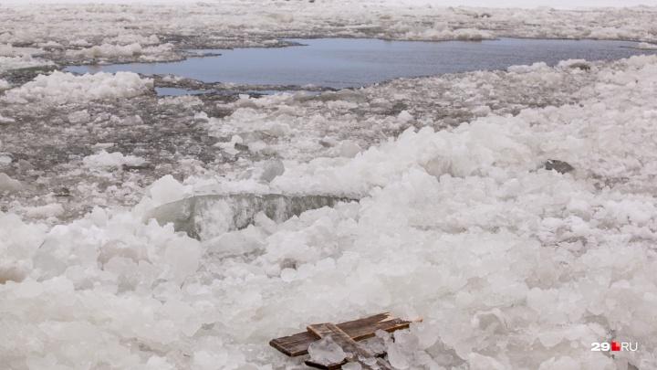 Еще немного, еще чуть-чуть: ледоход на Северной Двине остановился в Холмогорском районе