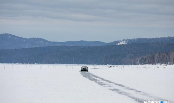 За сутки два авто на Красноярском водохранилище ушли под воду