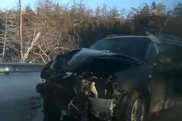 Так выглядит одна из пострадавших машин
