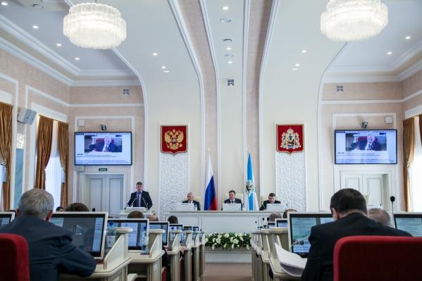 Решение о снижение налога приняли на сессии депутатов Архангельского облсобрания<br>