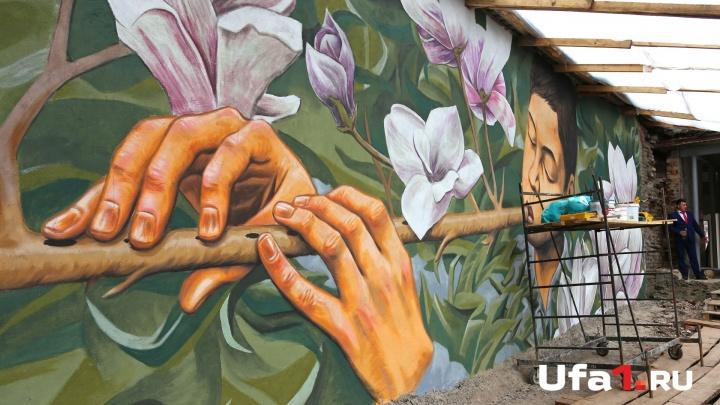 Уфимские дворы и подворотни облюбовали симпатичные граффити