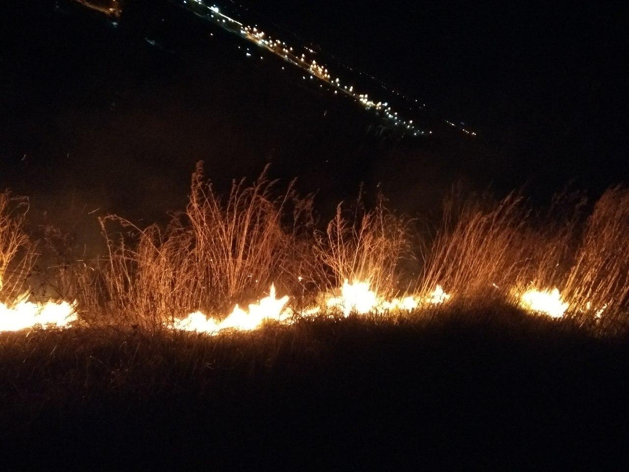На возгорание травы новосибирские пожарные за сутки выезжали множество раз