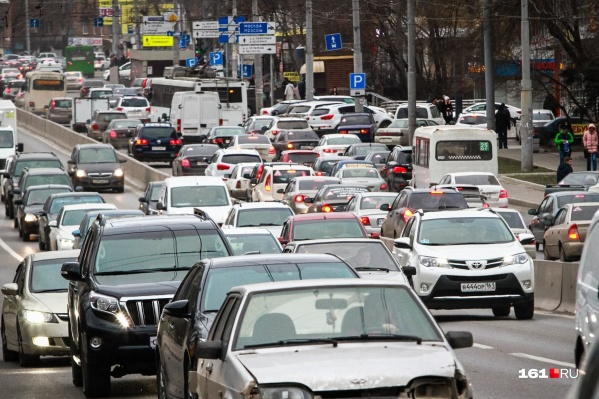 Движение сильно затруднено в центре города