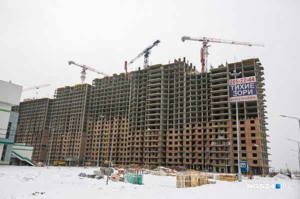 Вид на первый жилой дом, январь 2018 года