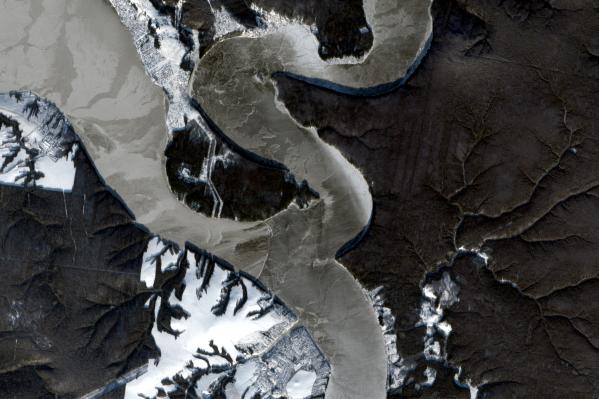 Снимок со спутника Сылвы и Чусовой