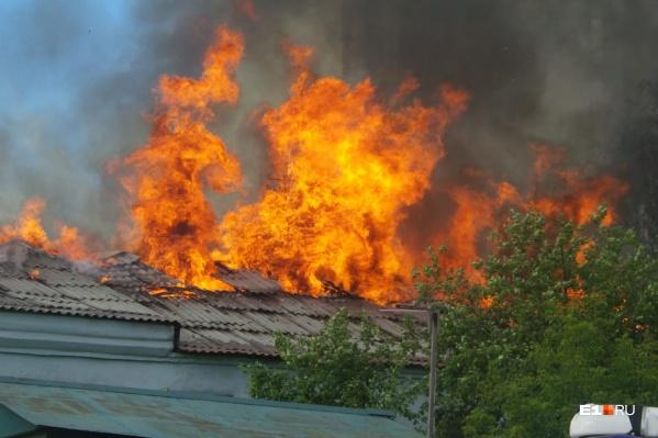На момент пожара здание пустовало