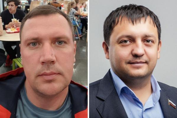 Чиновник из Первомайского района Алексей Михайлов (на фото слева) заявил, что депутат горсовета Дмитрий Дамаев ударил его в живот