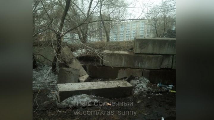 В мэрии Красноярска объявили о ремонте всех аварийных подпорных стен