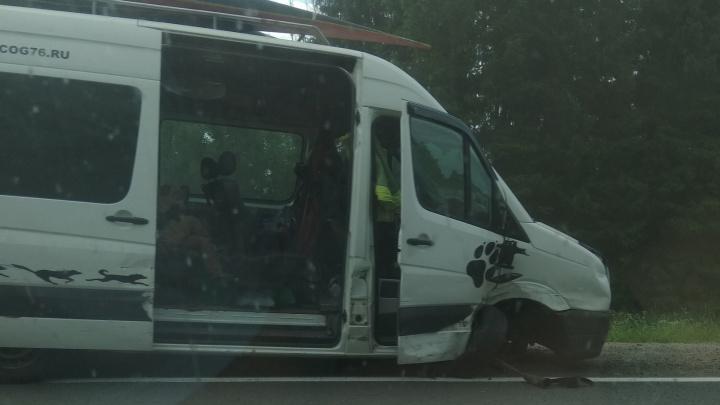 Микроавтобус с пассажирами влетел в фуру на трассе: пятеро пострадавших