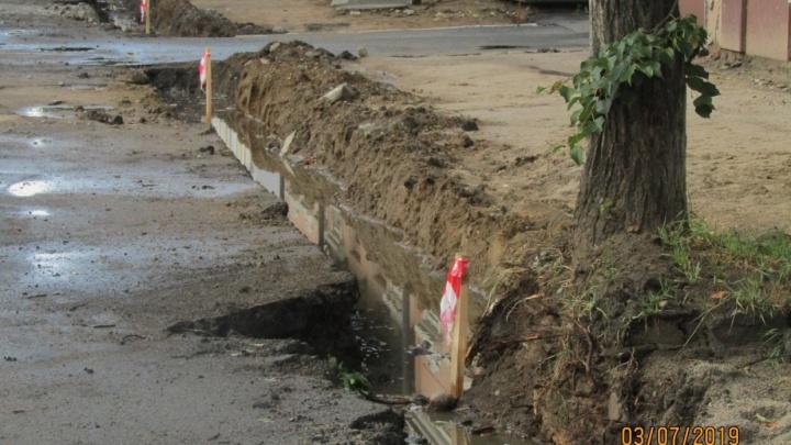 «Дикие разломы»: вЯрославле во время ремонта дорог разворотили тротуары