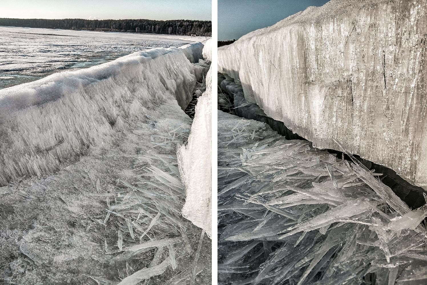 Лёд на Обском море стал хрупким