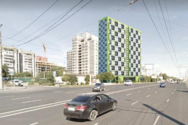 Примерно так будет выглядеть новый дом на Университетской Набережной напротив главного корпуса ЧелГУ