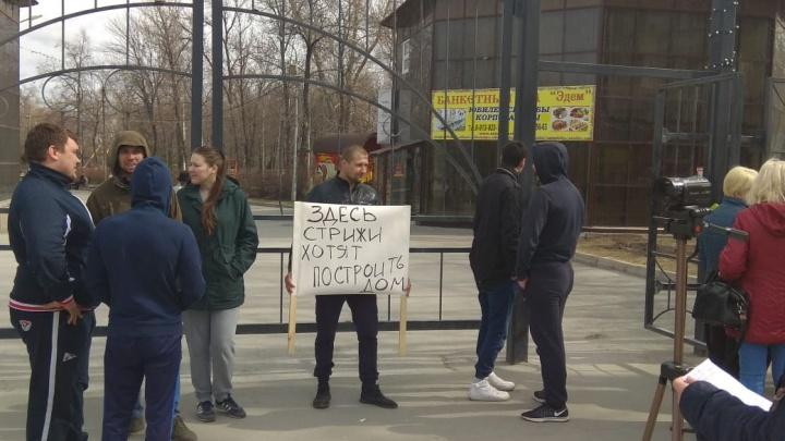 В Новосибирске начался пикет против застройки парков: собрались сотни горожан