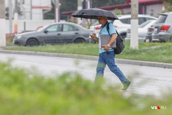 Днём в Волгограде возможен дождь с грозой