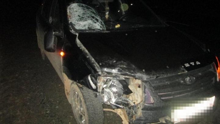 На трассе в Прикамье Lada Granta насмерть сбила пешехода