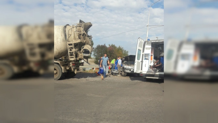 В Уфе в аварии пострадали женщина и два ребенка