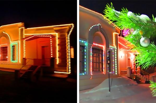 Коттеджи иногда готовят к новогодней ночи: украшают и оборудуют стереосистемами и цветомузыкой