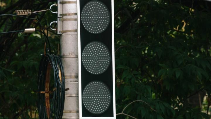 На Московском шоссе из-за аварии обесточили светофоры