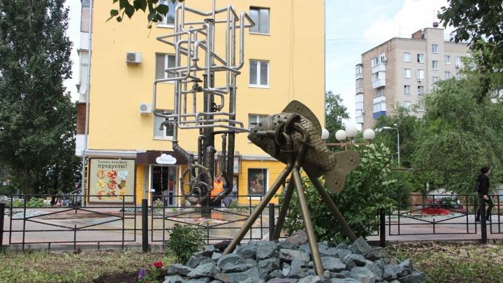 На пересечении улиц Полевой и Галактионовской в Самаре установили металлическую рыбу